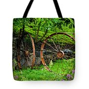 Vintage Wagon Wheel Gate Tote Bag