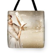 Vintage Woman Dreaming Of A Europe Travel Escape Tote Bag