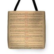 Virginia Constitution, 1776 Tote Bag