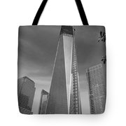 1 W T C And Museum In Black And White  Tote Bag