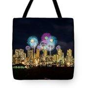 Waikiki Fireworks Celebration 11 Tote Bag