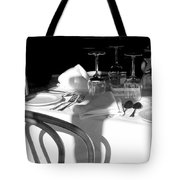 Waiting For Diners Bw Tote Bag