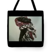 Warrior Rooster Tote Bag by Suzanne Berthier