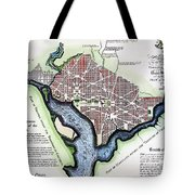 Washington, Dc, Plan, 1792 Tote Bag