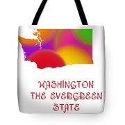 Washington State Map Collection 2 Tote Bag