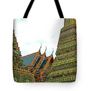 Wat Po In Bangkok-thailand Tote Bag
