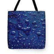 Water Drops On Metallic Surface Tote Bag