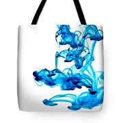 Water Trails - Two Blue Drops - Square Version Tote Bag
