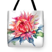 Watercolor Illustration With Beautiful Flowers  Tote Bag