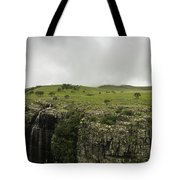 Waterfall Flowing Over The Edge Tote Bag