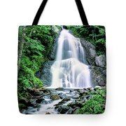 Waterfall In A Forest, Moss Glen Falls Tote Bag