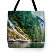 Waterfall Jervis Inlet Tote Bag