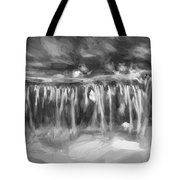 Waterfalls Childs National Park Painted Bw   Tote Bag