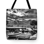 Waterfront At Ascona Tote Bag