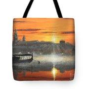 Wawel Sunrise Krakow Tote Bag