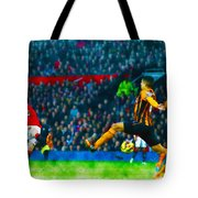 Wayne Rooney Of Manchester United Scores Their Second Goal Tote Bag