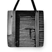 Weathered Door With Hanging Chain Tote Bag