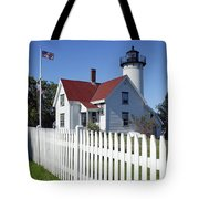 West Chop Lighthouse Tote Bag by John Greim