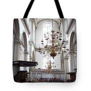 Westerkerk Interior In Amsterdam Tote Bag