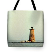 Whaleback Lighthouse Tote Bag