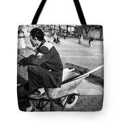 Wheel Barrel Man Tote Bag