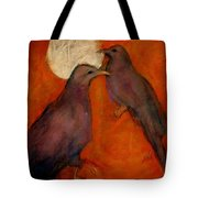 When Crow Made The Moon Tote Bag by Johanna Elik