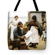 When The Boats Are Away Tote Bag by Walter Langley