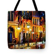When The City Sleeps Tote Bag by Leonid Afremov