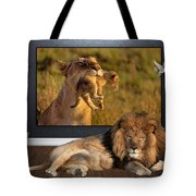 While The Lion Sleeps Tonight Tote Bag