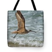 Whimbrel In Flight Tote Bag