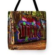 Whistler Train Wreck Box Car Tote Bag