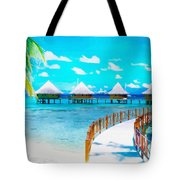 White Bay Tote Bag