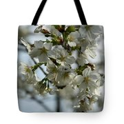White Cherry Blossoms Tote Bag