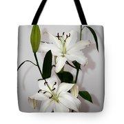 White Lily Spray Tote Bag