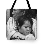 White Mountain Apache Elder And Granddaughter Rodeo White River Arizona 1970 Tote Bag