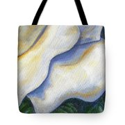 White Rose Two Panel Four Of Four Tote Bag