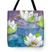 White Water Lilies Tote Bag
