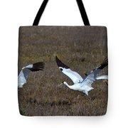 Whooping Cranes Tote Bag