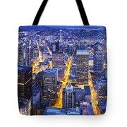 Wide Seattle Cityscape Tote Bag