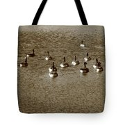 Wild Birds And Pond Tote Bag