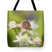 Wild Black Raspberry Blossom Tote Bag