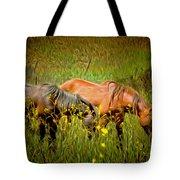 Wild Horses In California Series 2 Tote Bag