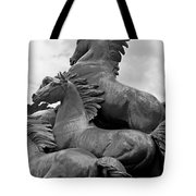 Wild Mustang Statue Tote Bag