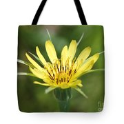Wildflower Named Yellow Salsify Tote Bag