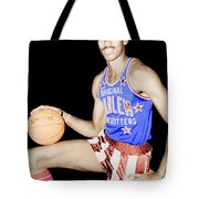 Wilt Chamberlain As A Member Of The Harlem Globetrotters  Tote Bag