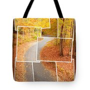 Winding Alley In Fall Tote Bag