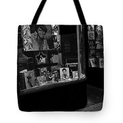 Window Display Night Of Elvis Presley's Death Recordland Portland Maine 1977 Tote Bag