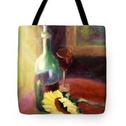 Wine And Sunflower Tote Bag