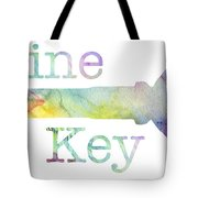Wine Key Watercolor Tote Bag