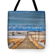 Winter Farmland Tote Bag
